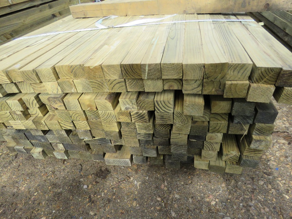 Large pack of timber posts, approx. 210no. in total, 45mmx55mm - Image 2 of 3