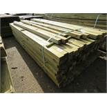 Pack of 2.7m length timber posts, 55mm x 45mm approx. 220no. approx in total
