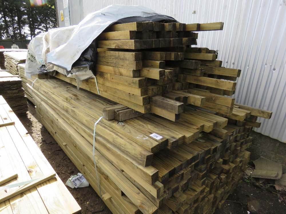 2no. Large packs of timber posts