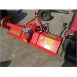 DELMORINO FUNNY 132S FLAIL MOWER FOR COMPACT TRACTOR YR 2015 1.3M WIDTH