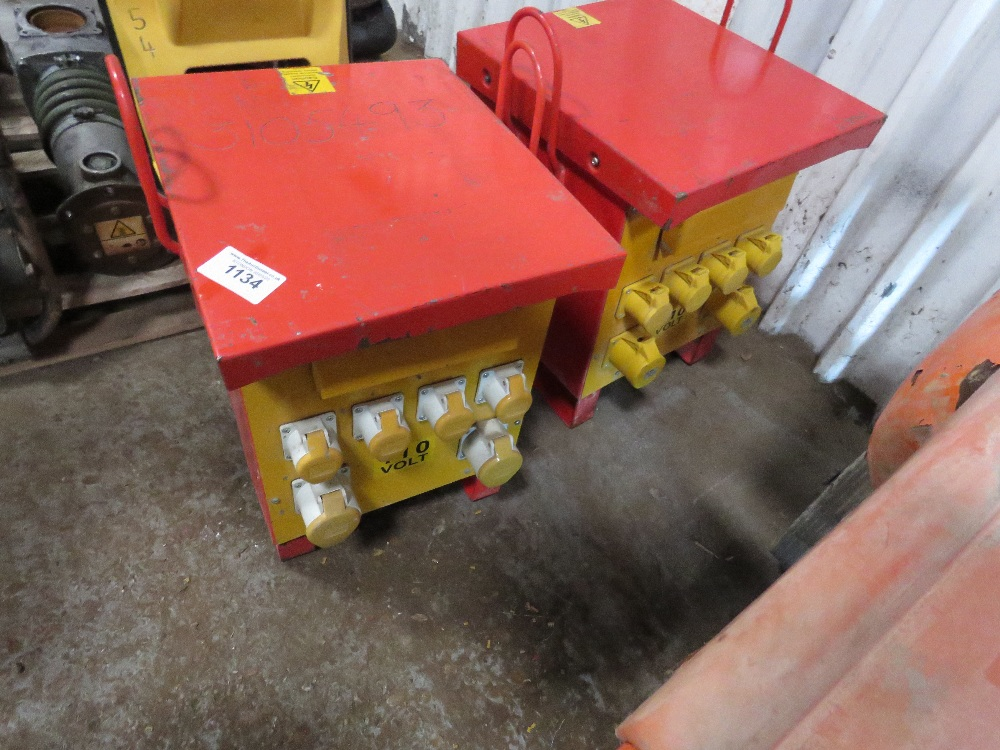 """2 X 10KVA RATED SITE TRANSFORMERS. All items """"sold as seen"""" or """"sold as is"""" with no warranty given"""