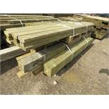 2no. Pallets containing assorted posts and timber