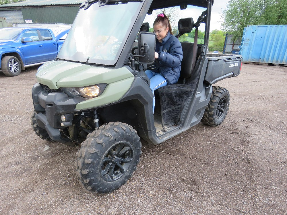 CANAM TRAXTER HD8 UTILITY VEHICLE 800CC PETROL ROTAX ENGINE 1070 REC HRS REG: GJ17 J2C WHEN TESTED - Image 7 of 11