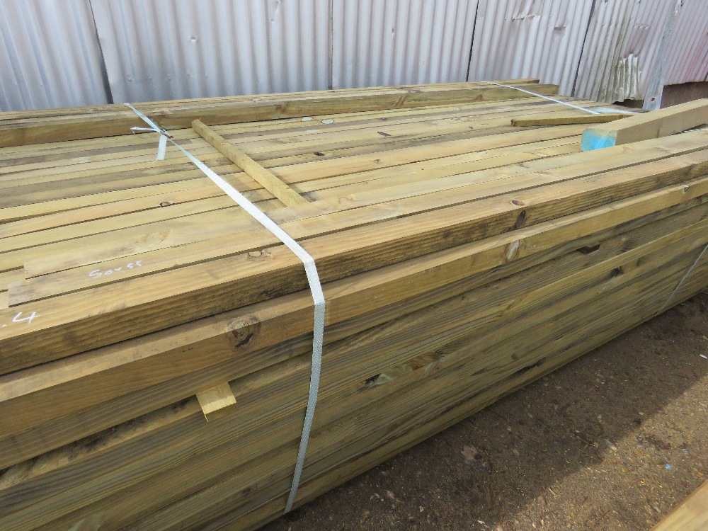 Large pack of timber posts, approx. 250no. in total, 50mmx 55mm - Image 3 of 3