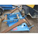 SET OF CONQUIP EXCAVATOR MOUNTED PALLET FORKS, UNTESTED