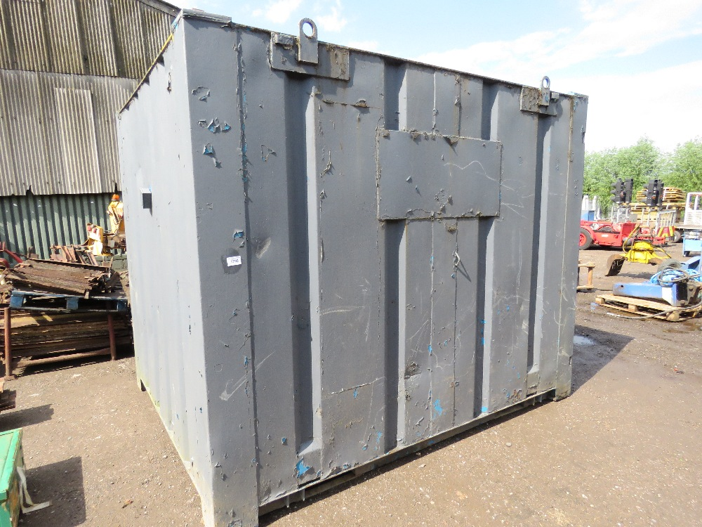 SECURE STEEL CONTAINER WITH KEYS 10FTX8FT APPROX.
