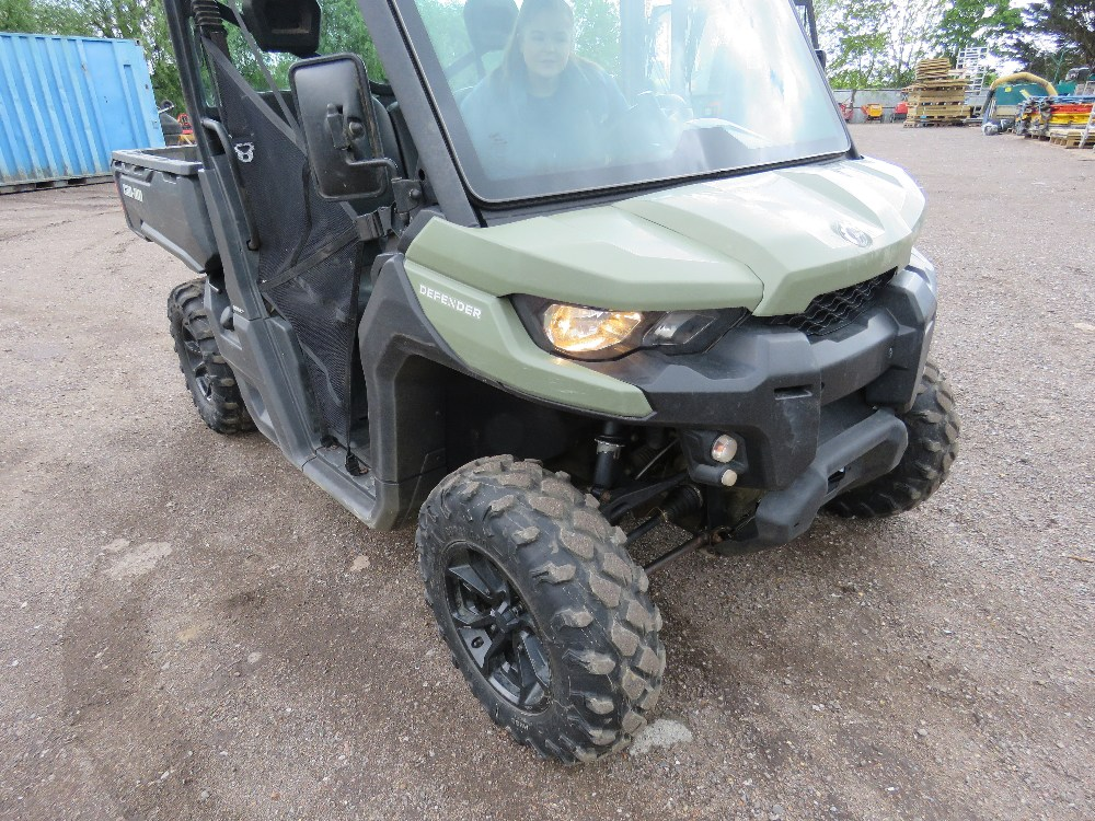 CANAM TRAXTER HD8 UTILITY VEHICLE 800CC PETROL ROTAX ENGINE 1070 REC HRS REG: GJ17 J2C WHEN TESTED - Image 9 of 11