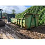 20YRD APPROX. HOOK LOADER BIN WITH TWIN REAR DOORS COLLECTION FROM SWANLEY KENT