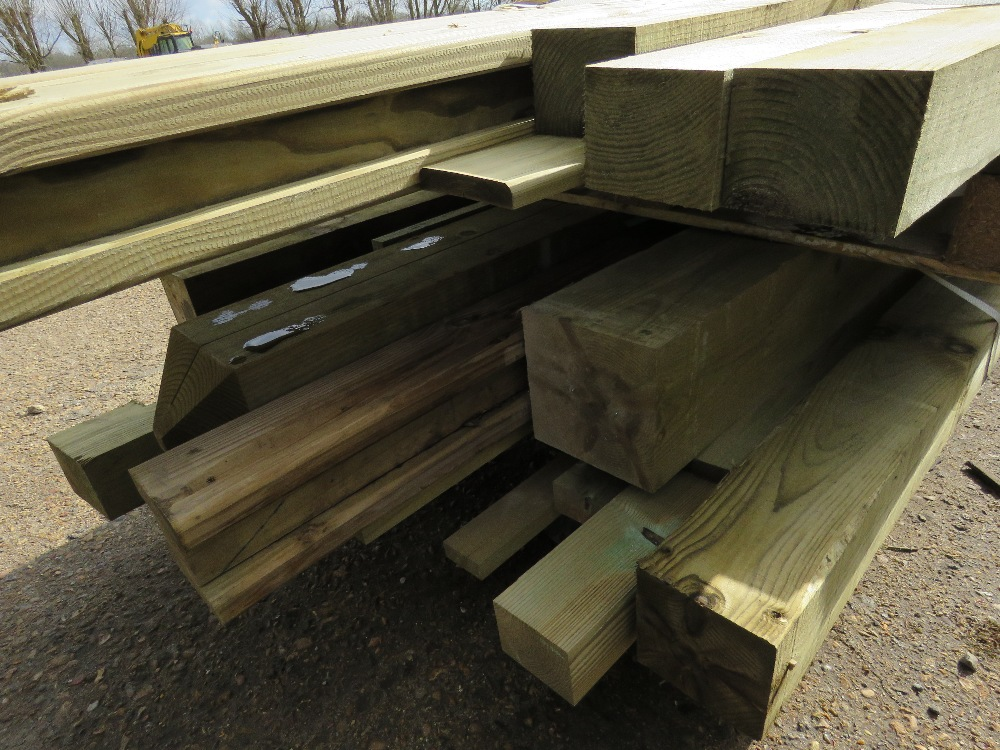2no. Pallets containing assorted posts and timber - Image 4 of 4