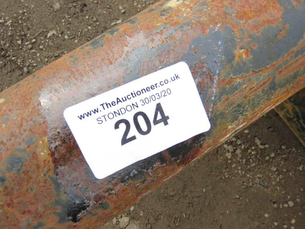 Set of Keen excavator-mounted pallet forks, yr2014, on 65mm pins, untested - Image 5 of 5