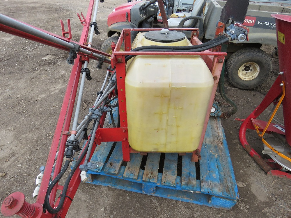 Small compact tractor mounted sprayer, 15ft approx. boom - Image 2 of 3