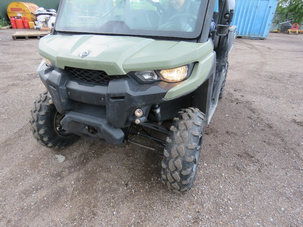 CANAM TRAXTER HD8 UTILITY VEHICLE 800CC PETROL ROTAX ENGINE 1070 REC HRS REG: GJ17 J2C WHEN TESTED - Image 8 of 11