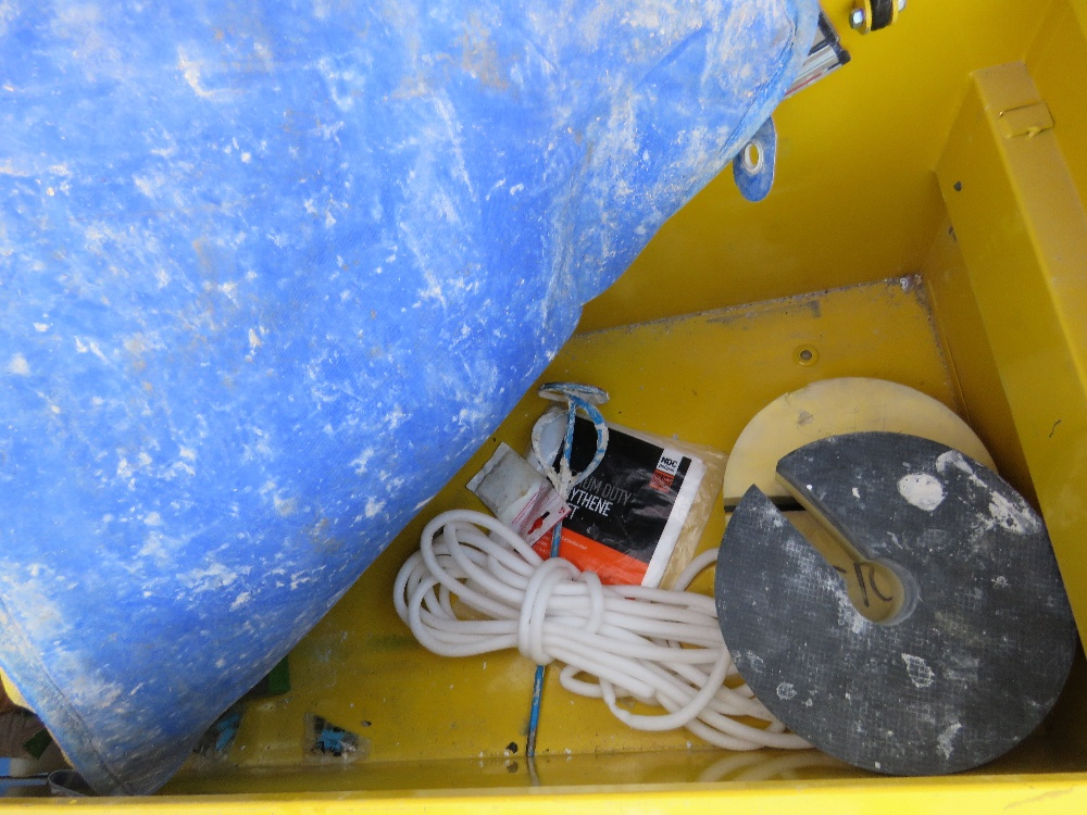 Yellow tool safe c/w contents, no keys - Image 3 of 3