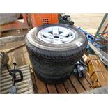 3no. 245/70 R16 wheels/tyres plus 2no. tyres. WHEELS BELIEVED TO BE FOR FORD RANGER