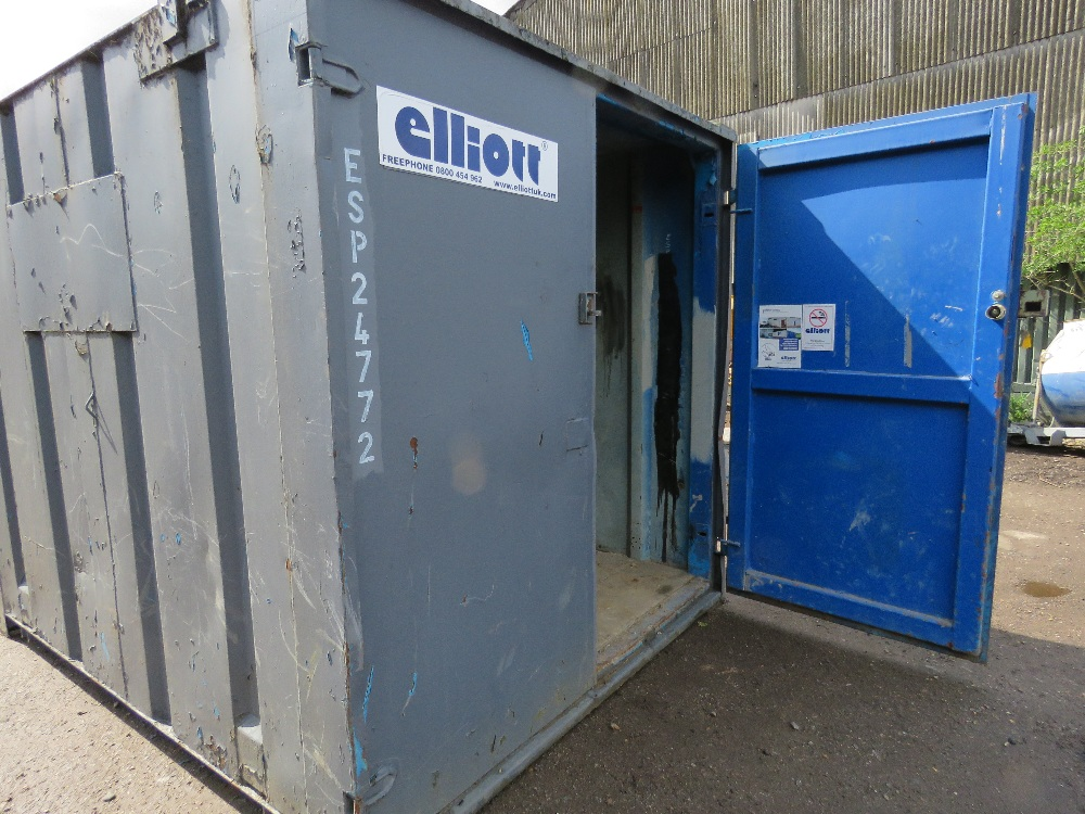 SECURE STEEL CONTAINER WITH KEYS 10FTX8FT APPROX. - Image 2 of 4