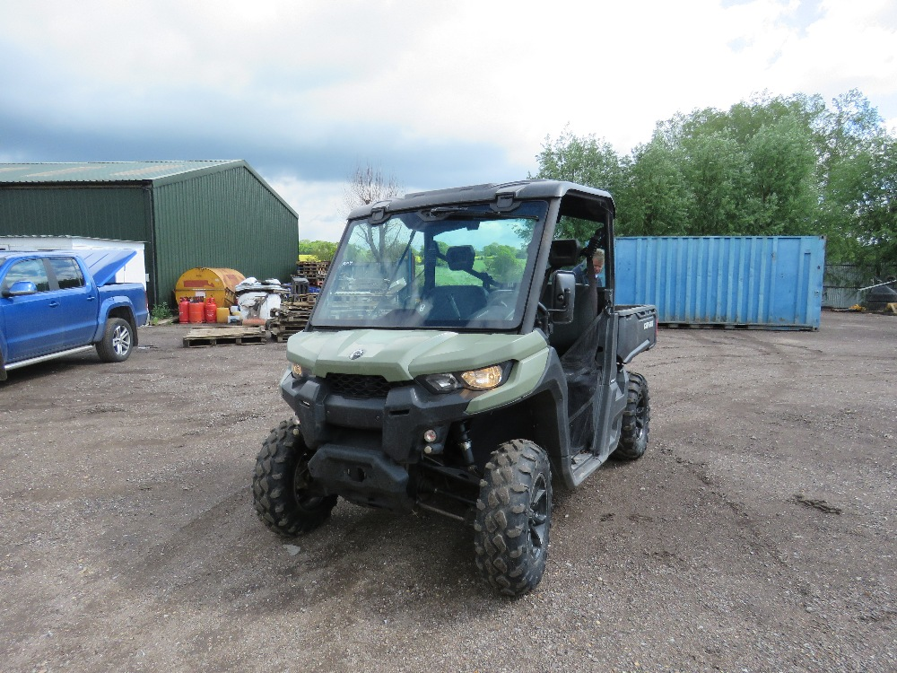 CANAM TRAXTER HD8 UTILITY VEHICLE 800CC PETROL ROTAX ENGINE 1070 REC HRS REG: GJ17 J2C WHEN TESTED - Image 2 of 11