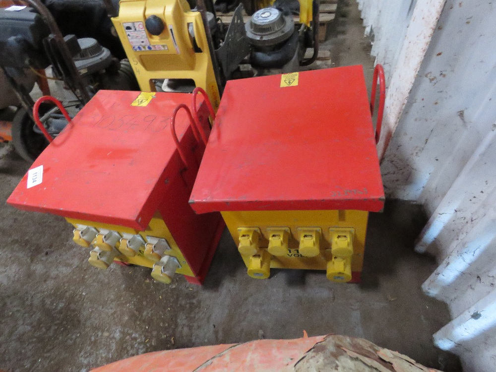 """2 X 10KVA RATED SITE TRANSFORMERS. All items """"sold as seen"""" or """"sold as is"""" with no warranty given - Image 2 of 2"""