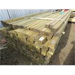 Large pack of timber posts, approx. 250no. in total, 50mmx 55mm