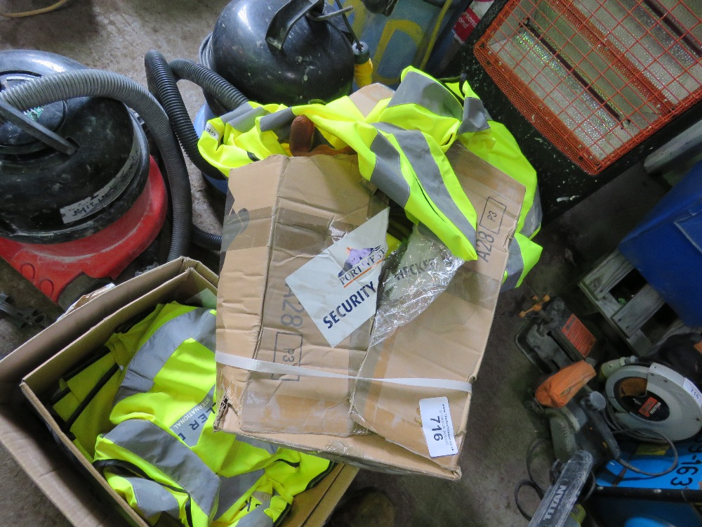 4no. Boxes of safety clothing