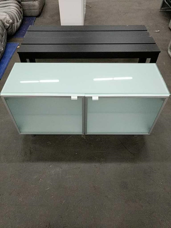 Lot 13 - Frosted Glass Console