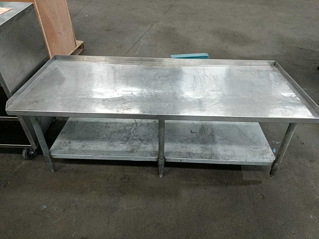 Lot 50a - Misc. Stainless Steel Storage Table