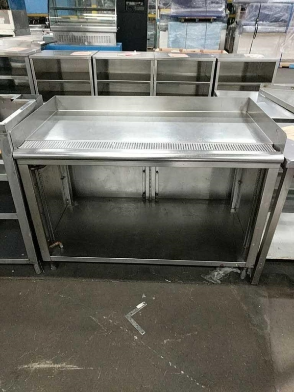 Lot 51 - Stainless Steel Kitchen Prep Table with Drain