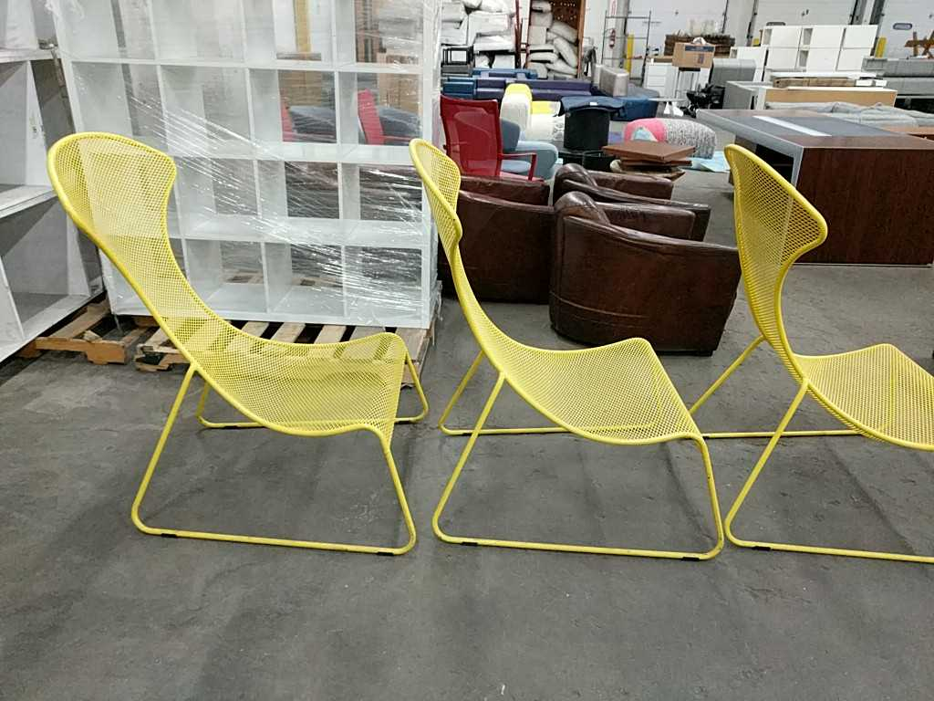 Lot 23 - Yellow Outdoor Chairs