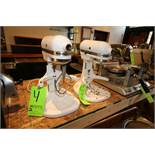 Kitchen Aid Heavy Duty Mixers, M/N K5SS, 115 Volts, with Attachments and S/S Bowls