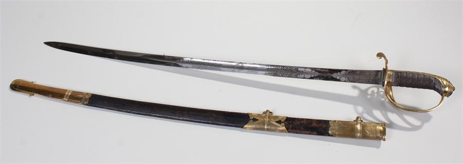 Lot 479 - Indian Mutiny and the Storming of Delhi presentation sword, Henry Wilkinson Pall Mall Patent solid