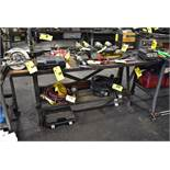 "STEEL FRAME WORKBENCH 62""X28""X34"""