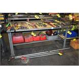 "STEEL FRAME WORKBENCH 72""X34""X34"""