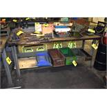"STEEL FRAME WORKBENCH 64""X26""X34"""