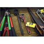 (2) ASSORTED PIPE WRENCHES