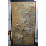 Lot 1377 - A large Chinese painting, 19th century, ink and colour on paper,