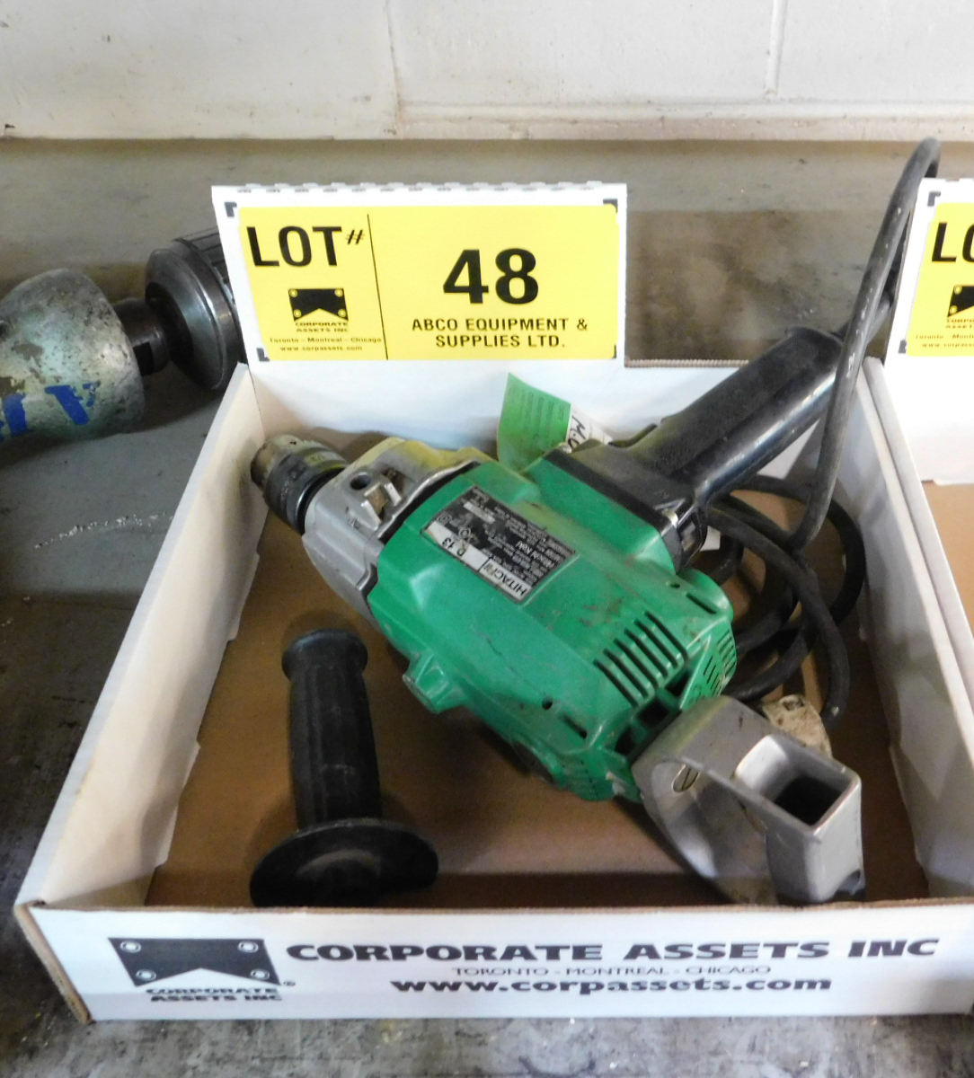 "HITACHI 1/2"" ELECTRIC DRILL"