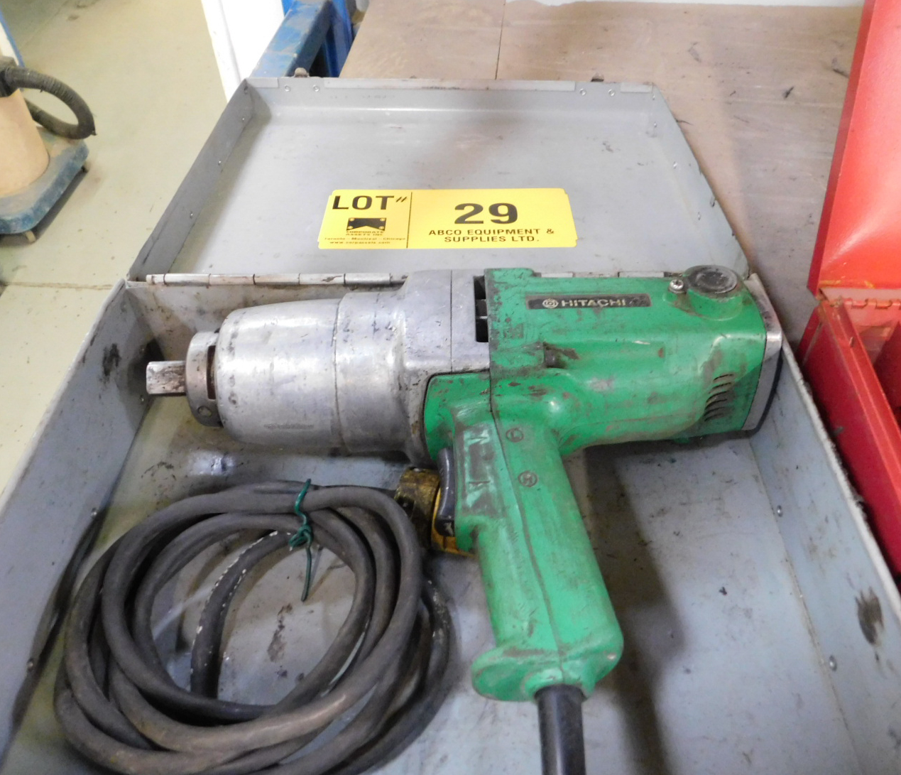 "HITACHI 3/4"" DRIVE ELECTRIC IMPACT GUN"