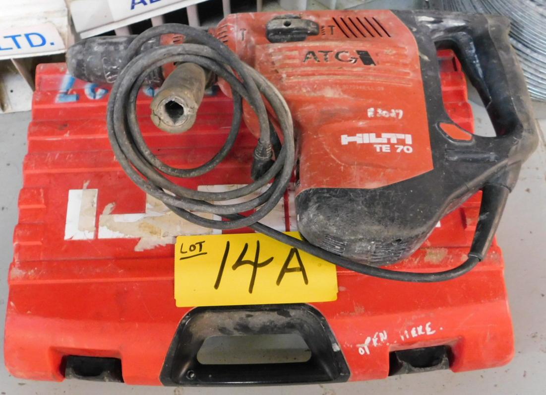 HILTI TE-70-ATC HAMMER DRILL WITH CASE