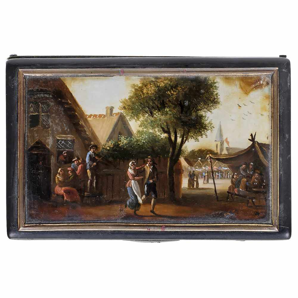Lot 16 - Musical Snuff Box by Alibert, c. 1840No. 3052, with sectional comb in 17 groups of 4 teeth (complete