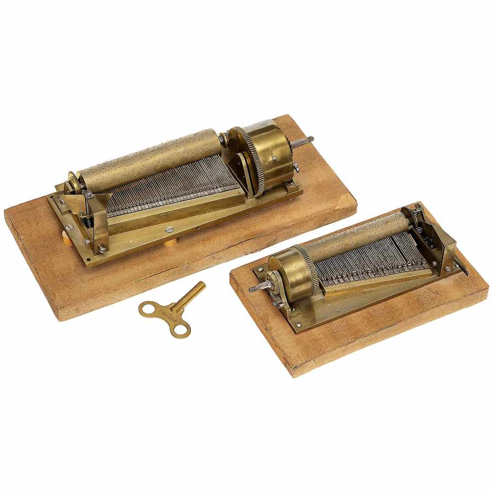 Lot 36 - 2 Early Viennese Musical Movements, c. 18301) Anton Olbrich. Cylinder with partial notation lines,