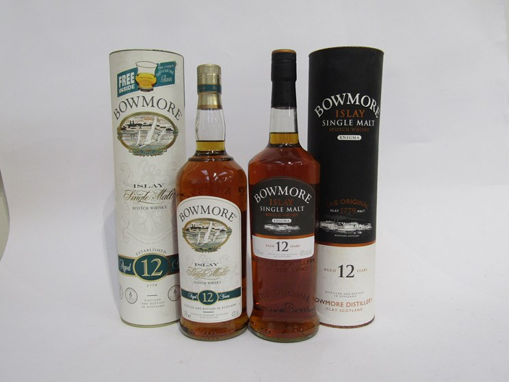 Lot 7045 - Bowmore Original Bottling Enigma 12 years Old Single Malt, 1ltr in tube,