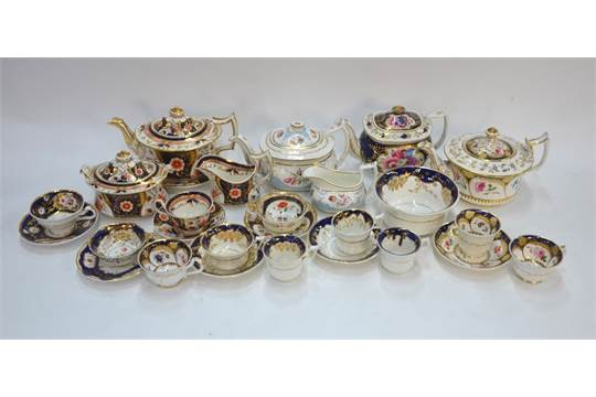 Previous  sc 1 st  The Saleroom & A collection of Mrs Bowring and Zachariah Boyle teawares including ...