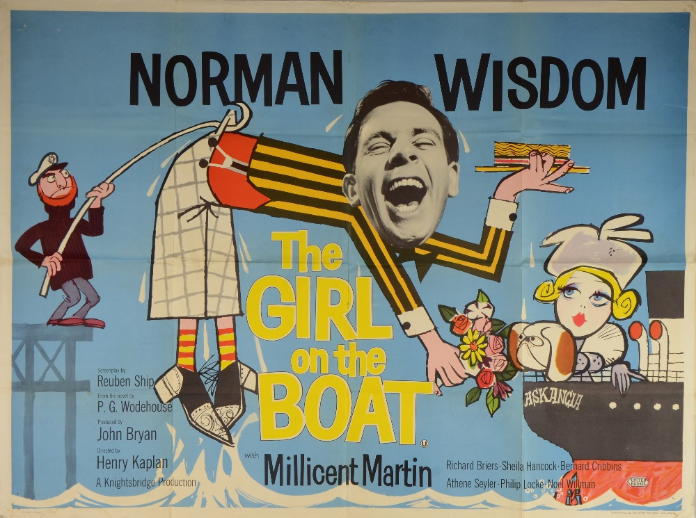 The Girl On The Boat (1962) British Quad film poster ...