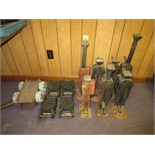 Lot (13pcs) Machinery Moving Equipment, includes: (4) skates, (2) wheeled dollies, (7) house jacks.