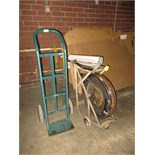 Lot (3pcs) Shop Equipment, includes: (1) 2-wheel hand truck, (1) mobile bander with tools & (1)