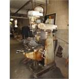 Bridgeport Vertical Milling Machine, 1-HP, 8-speed, 80-2720 rpm, includes machine vise, 5C collets