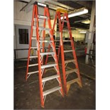 Lot of (2) 8' Fiberglass Step Ladders HIT# 2179383. twister area. Asset Located at 10 Valley St,