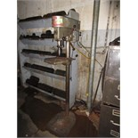 Sprunger NDP15 Floor Type Drill Press, 1/2 hp, 115 VAC. SN# 80833. HIT# 2179313. autoclave area.
