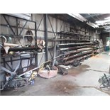 Lot Balance of Steel Contents along walls & in racks. Does not include separately tagged machinery