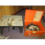 Lot of (2) Electric Power Tools, includes: (1) B&D Circular Saw & (1) Craftsman 1-1/2 hp Router