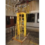 Mobile Telescoping Work Platform, hand hydraulic operated. HIT# 2179387. twister area. Asset